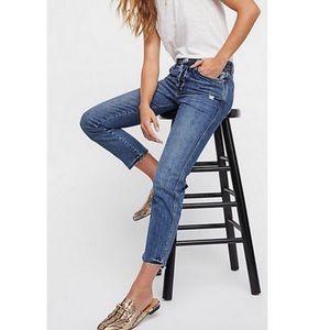 Free People We the Free Slim Boyfriend Jeans